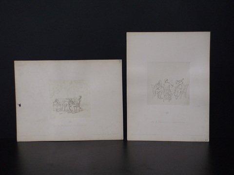 4024: Lot of 2 Aus A. Hendschel's Skizzenbuch: verlag v
