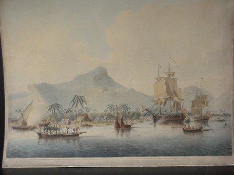 4060: Aquatint Of Captain Cooks Voyages, 18 Century