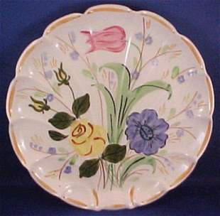 Hand Painted Blue Ridge Pottery Serving Plate