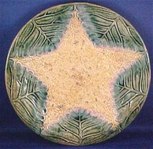 Majolica Marked Etruscan Cauliflower Plate