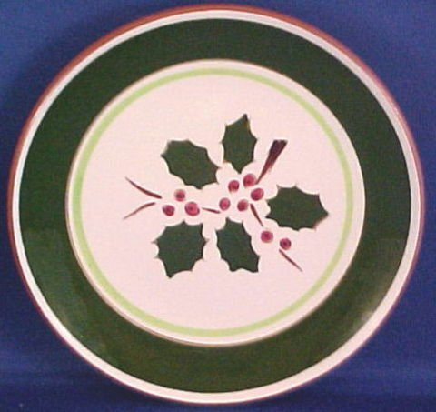 1024: Four Stangl Pottery Salad Plates Holly Pattern - 2