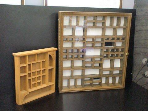 1109 2 Wooden Knick Knackminiature Display Shelves