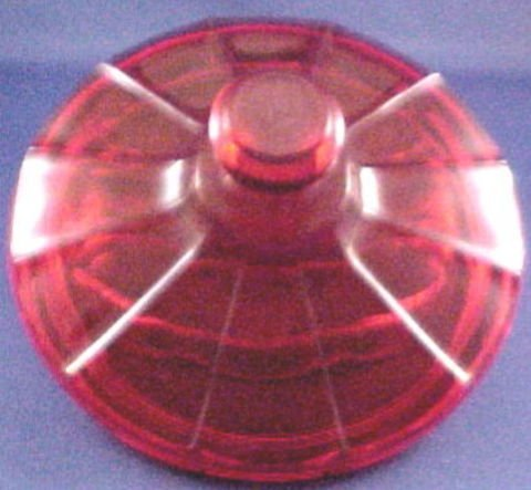 1150: Ruby Red Fostoria Coin Glass Candy Dish - 3
