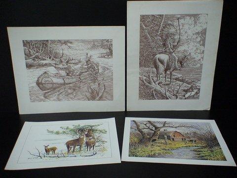 1221: 4 Prints By Nicholas A. Rosato Indians & More