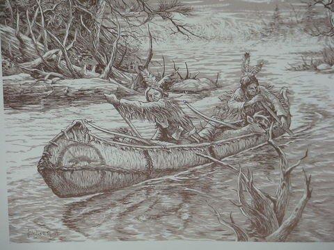 1221: 4 Prints By Nicholas A. Rosato Indians & More - 2