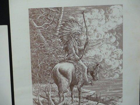 1221: 4 Prints By Nicholas A. Rosato Indians & More - 4