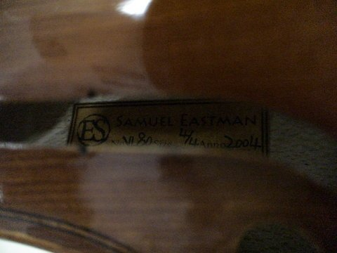 1229: VIOLIN Samuel Eastman No. VL80 - Full Size 4/4  - 5