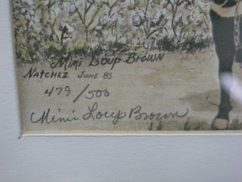 1406: Lot of 2 Signed & Numbered Print Mimi Loup Brown - 3