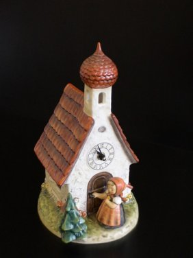 1293: Chapel Time Clock,Figurine # 442,11.25 Inches Tal