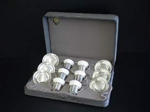 Set of 6 Lenox tea set, 6 plates marked RW&S Ster