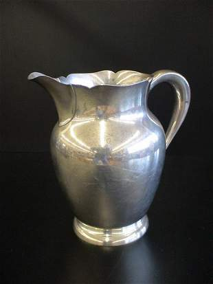 Water pitcher marked S. Kirk & Son Sterling 210A