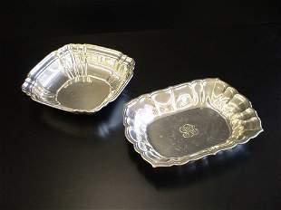 2 Sterling serving bowls, #1 marked Gorham Sterli