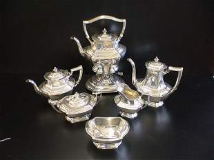 6 pc. Sterling Tea set, all marked Wallace Sterli