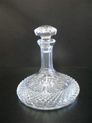 """Crystal decanter marked Galway, measurements 9""""H"""