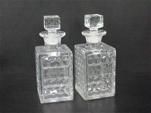 Pair of 2 mold decanters, no apparent markings, m