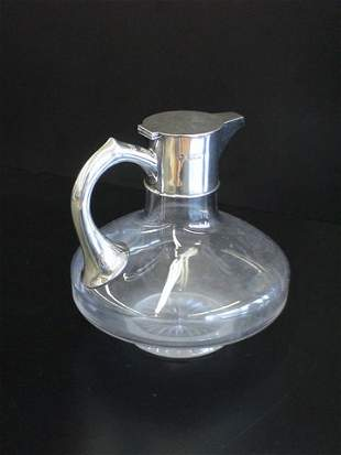 Crystal pot with Silver spout & handle touch mark