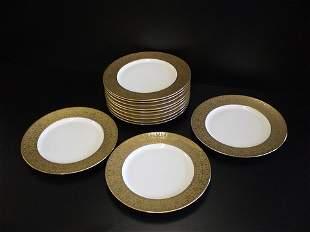 12 dinner plates marked Limoges France & French c