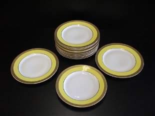 12 salad plates marked Rosenthale w/cross swords
