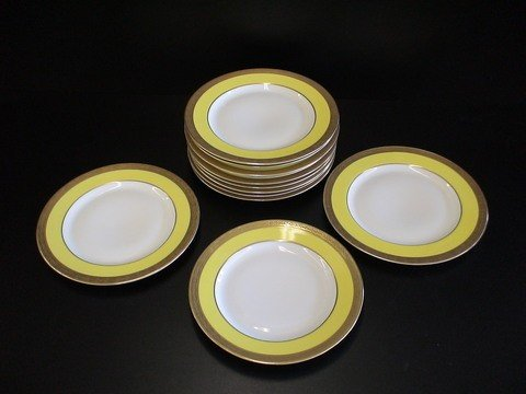 1024: 12 salad plates marked Rosenthale w/cross swords
