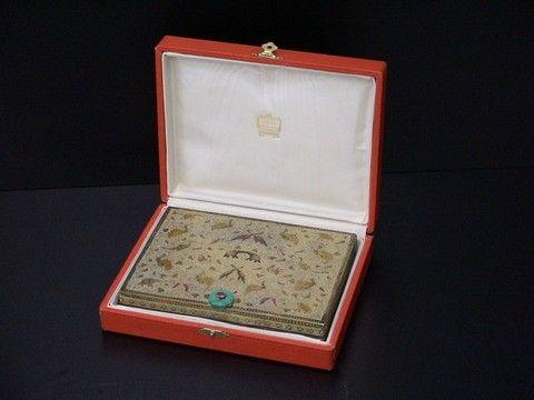 Traveling make up box, intricate design with anim
