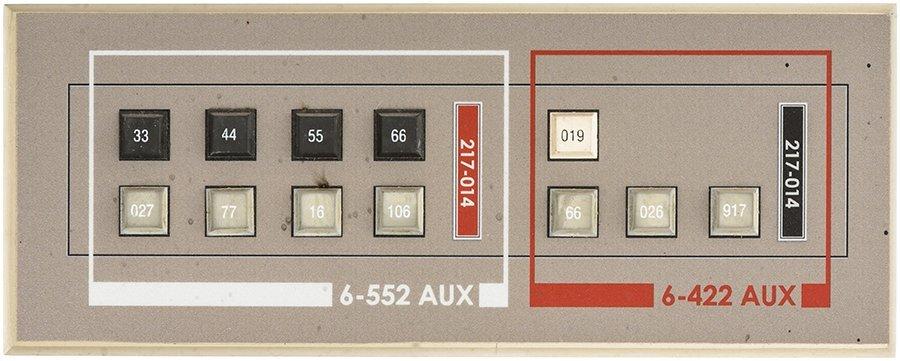 Star Trek: Enterprise NX-01 Button Panel #1