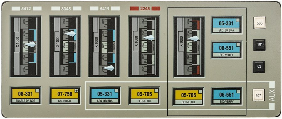 Star Trek: Enterprise NX-01 Gauge  Button Panel
