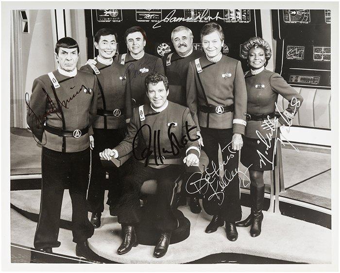 Star Trek Original TOS Crew Autograph