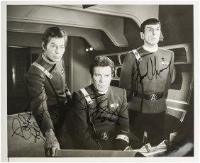 Star Trek Kirk, Spock, and McCoy Original Autograph