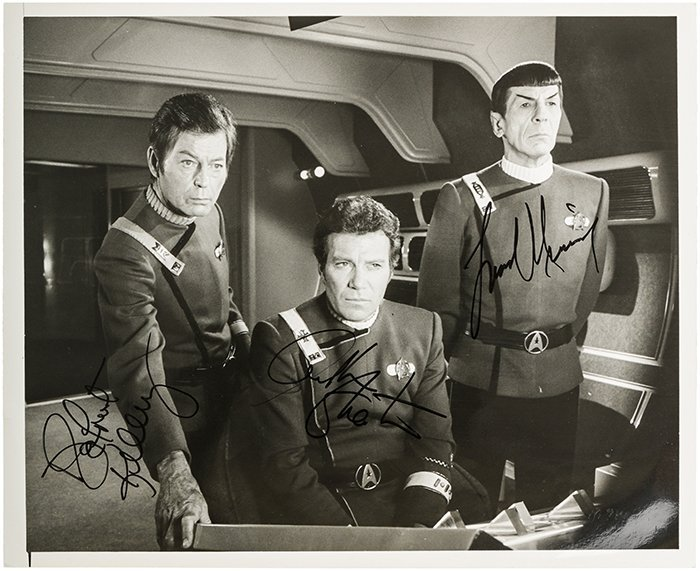 Star Trek Kirk, Spock, and McCoy Original Autograph