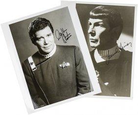 Star Trek Kirk & Spock Original Autograph Set