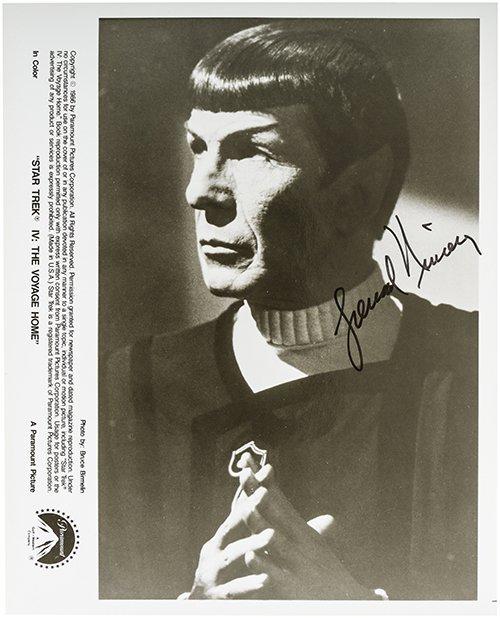 Star Trek Leonard Nimoy Original Autograph