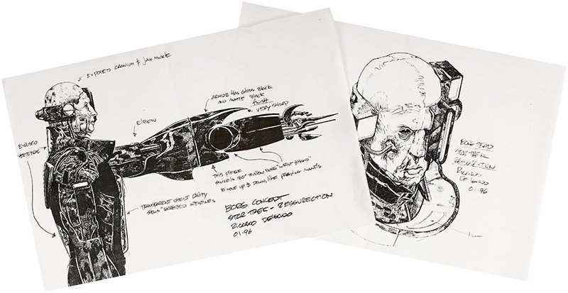 Star Trek: First Contact Borg Concept Illustrations
