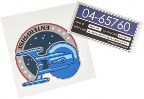 Star Trek: Enterprise Adhesive Decal Set