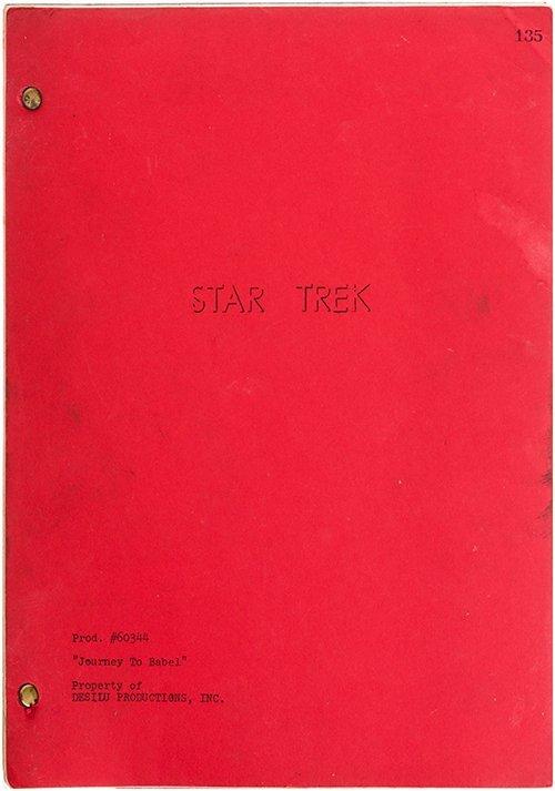 """Star Trek: TOS Original """"Journey to Babel"""" Script"""
