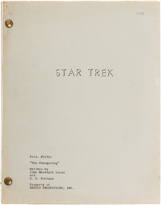 "Star Trek: TOS Original ""The Changeling"" Script"