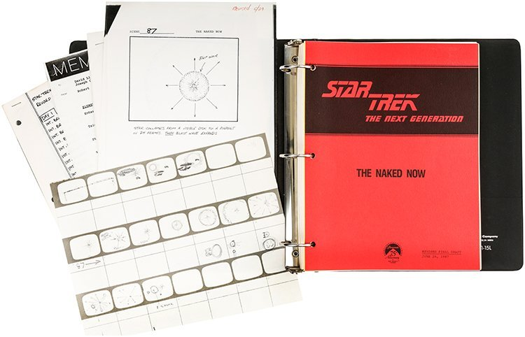 Star Trek: The Naked Now Script Bible & Production...