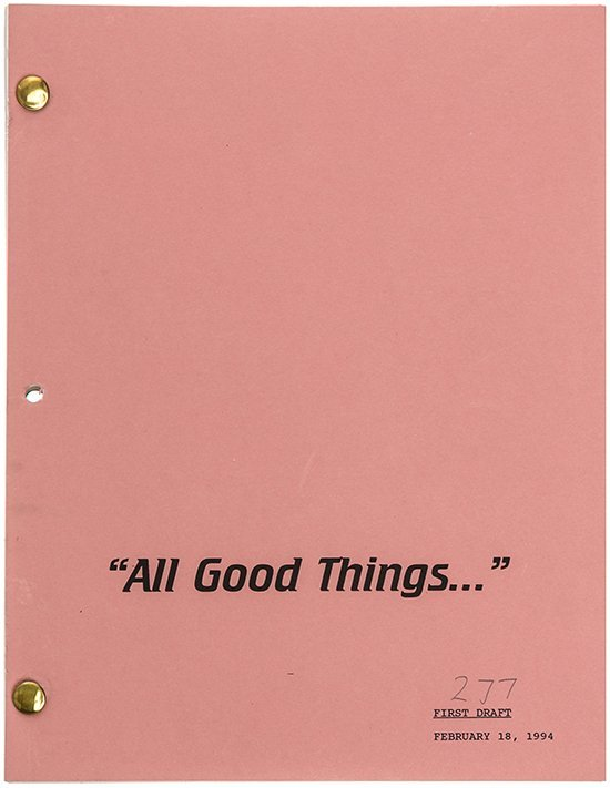 "Star Trek: The Next Generation ""All Good Things"" Script"