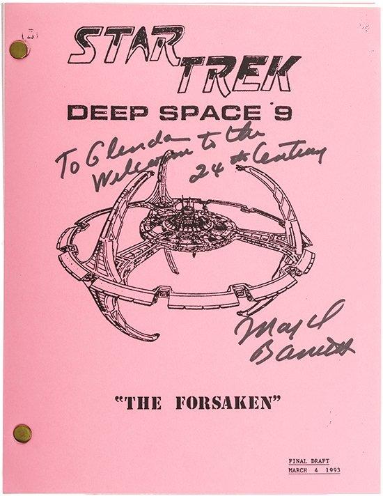 "Star Trek: DS9 Autographed ""The Forsaken"" Script"