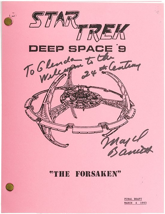 "Star Trek: DS9 Autographed ""The Forsaken"" Script"