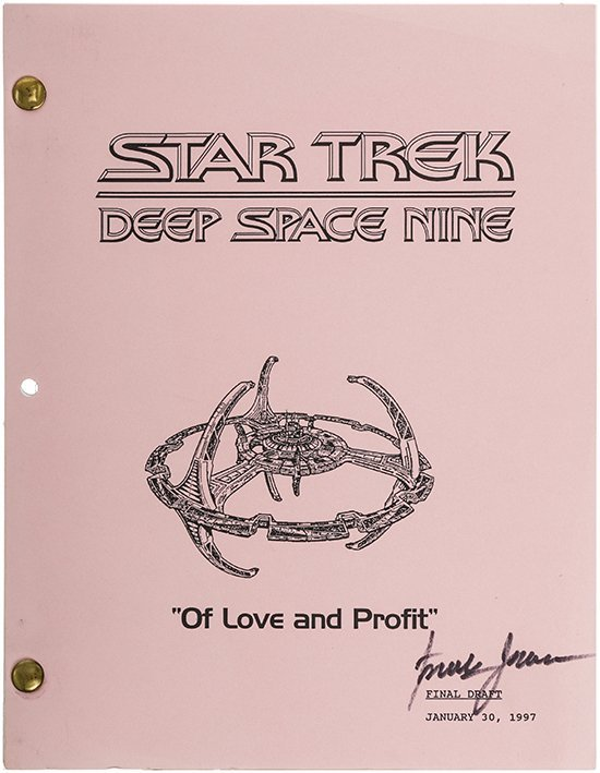 "Star Trek: DS9 ""Of Love and Profit"" Original Script"
