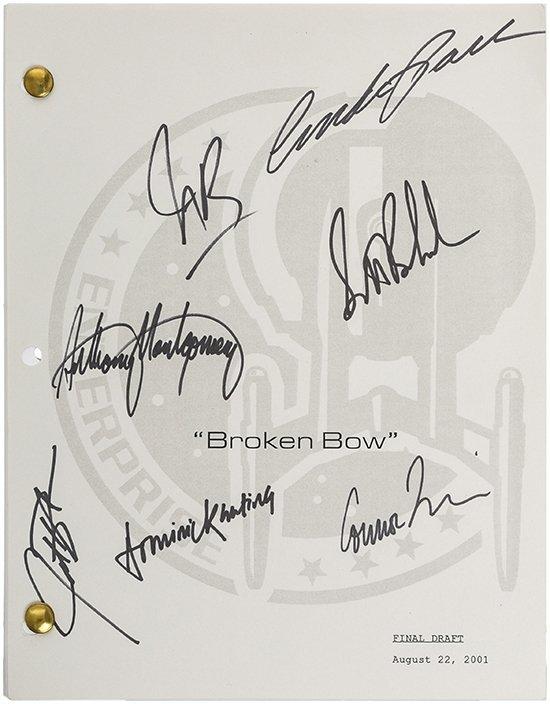 """Star Trek: Enterprise """"Signed"""" Broken Bow Script"""
