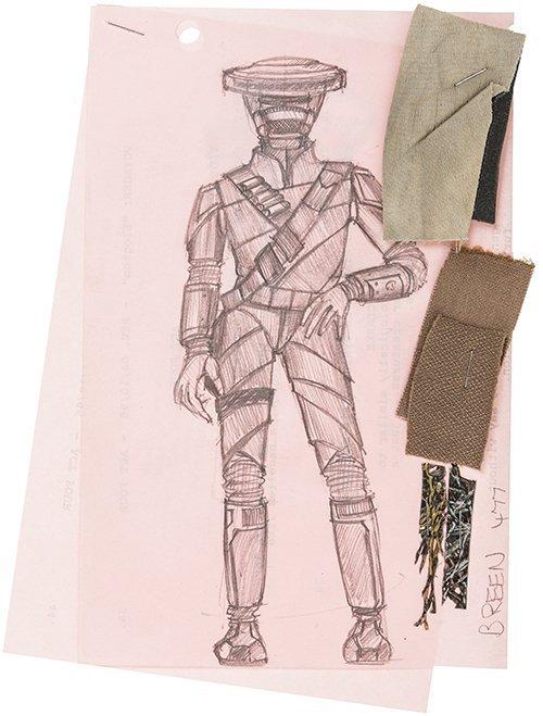 """Star Trek: Deep Space Nine Original """"Breen"""" Concept Art"""