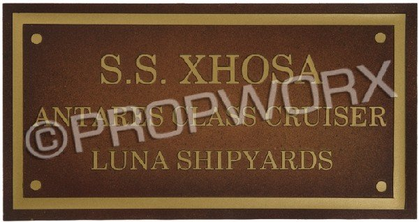 104: S.S. Xhosa Dedication Plaque