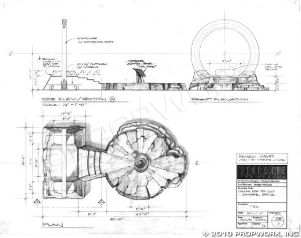 """3: Stargate and DHD Concept Art from """"Children of the G"""