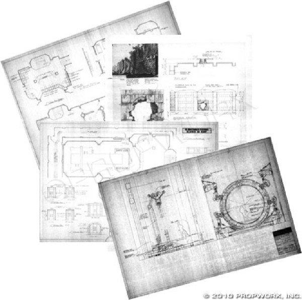 "13: ""Children of the Gods"" Set Plans and Concept Art Bl"