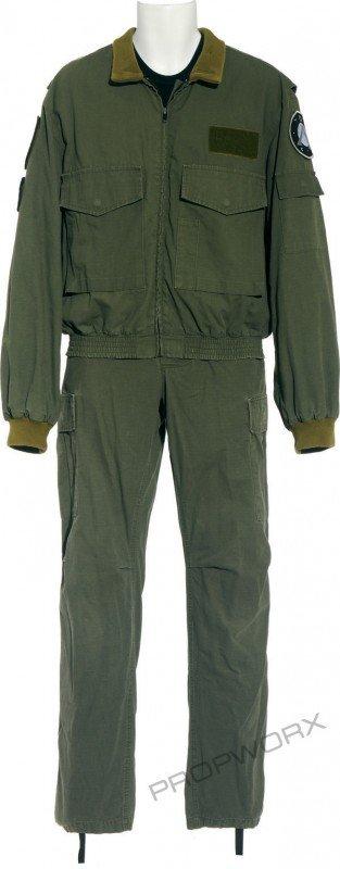 21: Mitchell's green uniform
