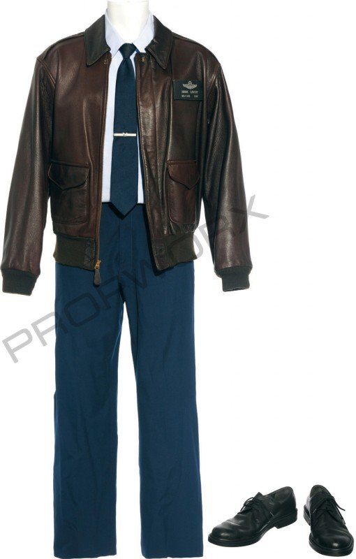 """57: Landry's dress blues and leather jacket from """"Conti"""