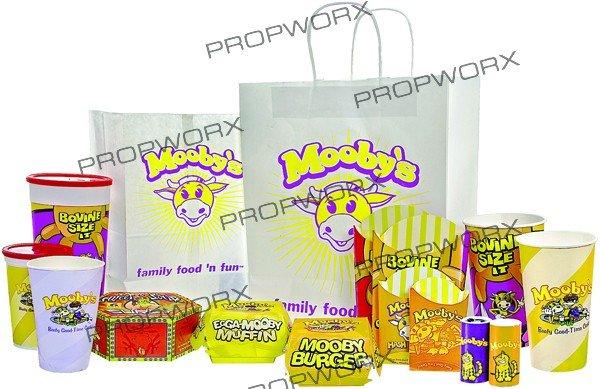 235: Complete Set of Fast Food Movie Packaging