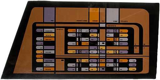 152 Star Trek Voyager Engineering Console Panel