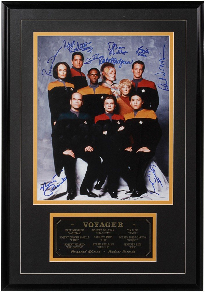 235: Star Trek: Voyager Signed and Framed Picture